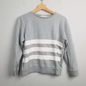 Maison Kitsune Womens Sweatshirt Size Small Grey